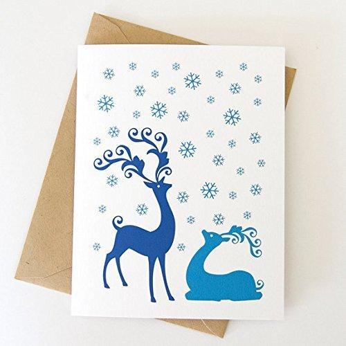 deer christmas card individual printed cards with envelopes christmas cards deer 7 - Deer Christmas Cards