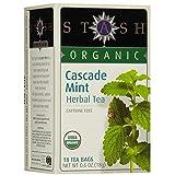 Stash Tea Organic Cascade Mint 18 Count (Pack of 4)