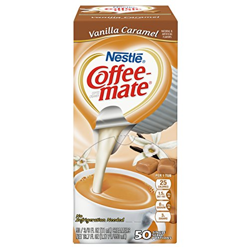NESTLE COFFEE-MATE Coffee Creamer, Vanilla Caramel, liquid creamer singles, Pack of 50 by Nestle Coffee Mate (Image #1)