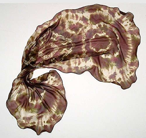 nique Shibori, Tie Dye Wrap, Hand Dyed, Champagne Raspberry Cognac, Made by Artist, Jossiani, One of a Kind. ()