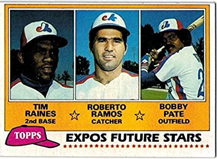 Tim Raines, Roberto Ramos and Bobby Pate