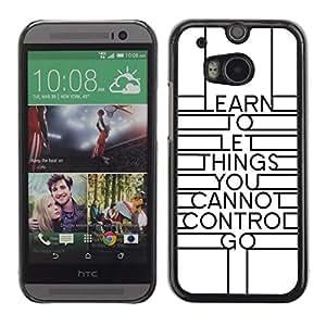 TECHCASE**Cubierta de la caja de protección la piel dura para el ** HTC One M8 ** Art Deco Design Inspiring Message White
