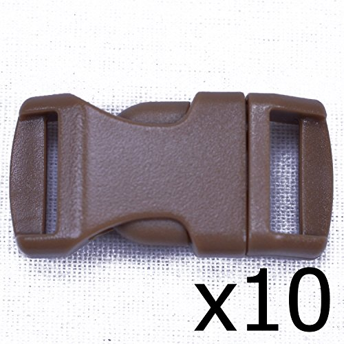 Coyote-Brown-12-Inch-Buckle-10-pack-Great-for-Paracord