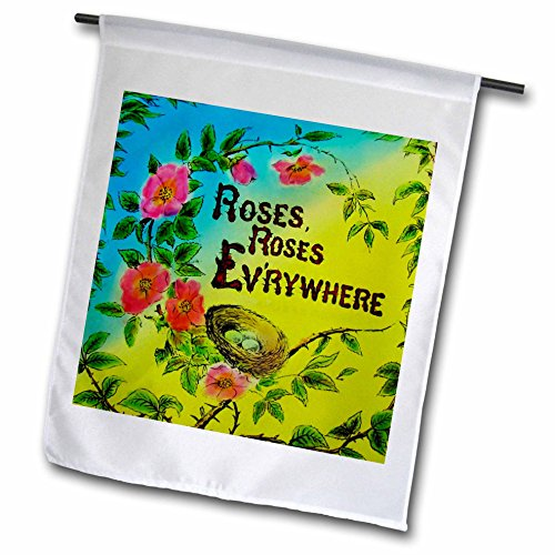 Scenes from the Past Magic Lantern - Vintage Roses Roses Everywhere Edwardian Tale Love Story No. 1 - 12 x 18 inch Garden Flag (Edwardian Rose)
