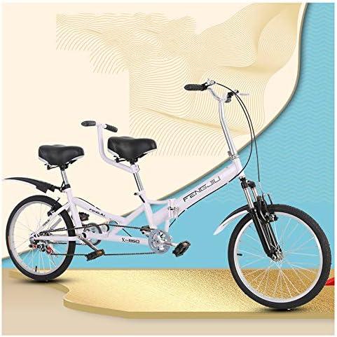 SYLTL 20in Bicicleta Tándem Plegable Pareja Doble Viajes y Turismo ...