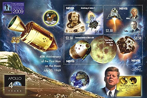 Apollo 11-40th Anniversary of The Moon Landing - Limited Edition Collectors Stamps - Nevis