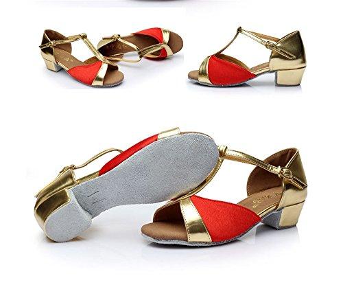 Argent Pour amp; 30 Enfants Doux De Modernes Latines Color Fond Gold Chaussures Les Tmkoo Taille PAqwd0w
