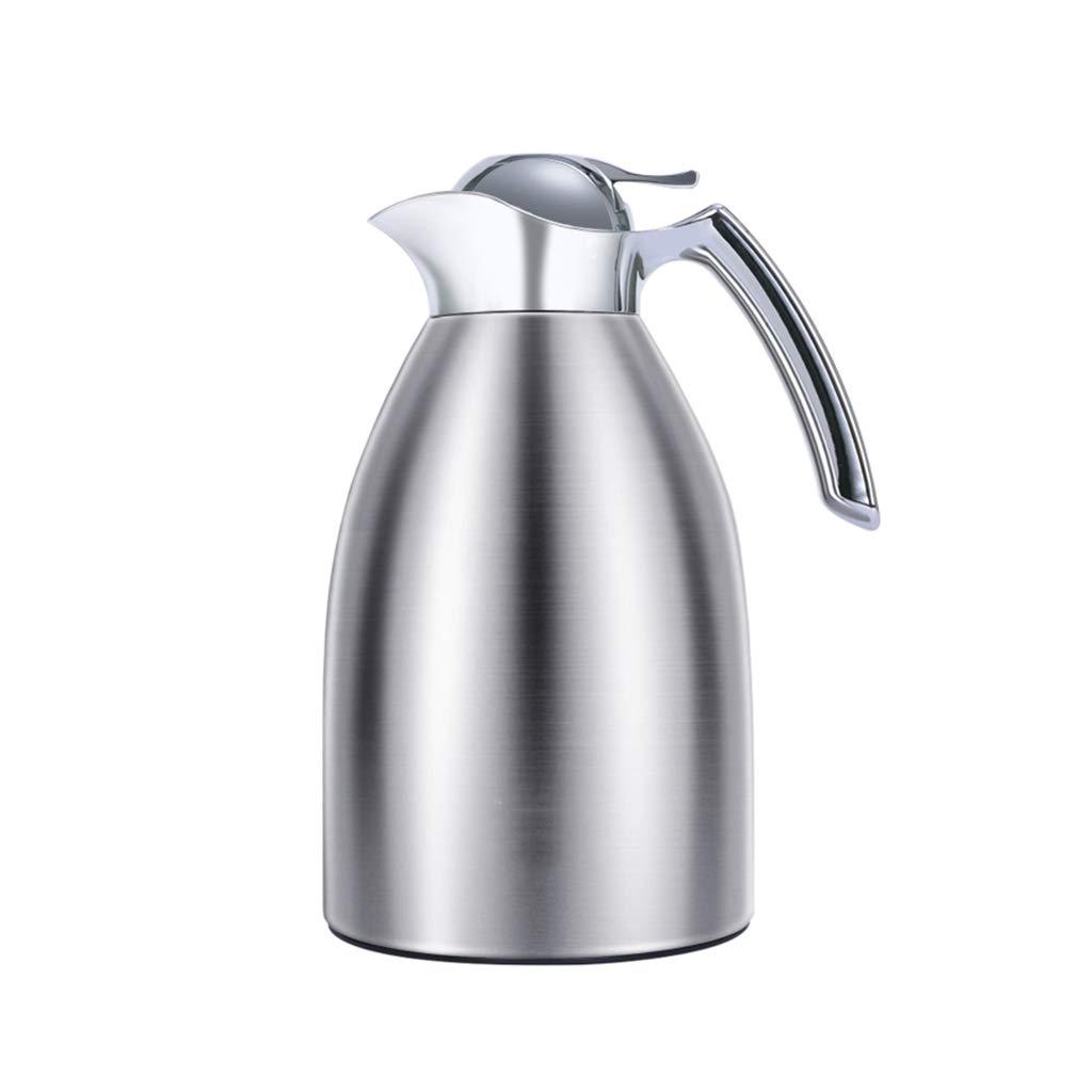 FYCZ Thermoskannen,Vakuum-Reisebecher Edelstahl-Doppelwand-Vakuumisolierter Kaffeekolben, Saft/Milch / Tee Isolations-Topf 1.5L A2