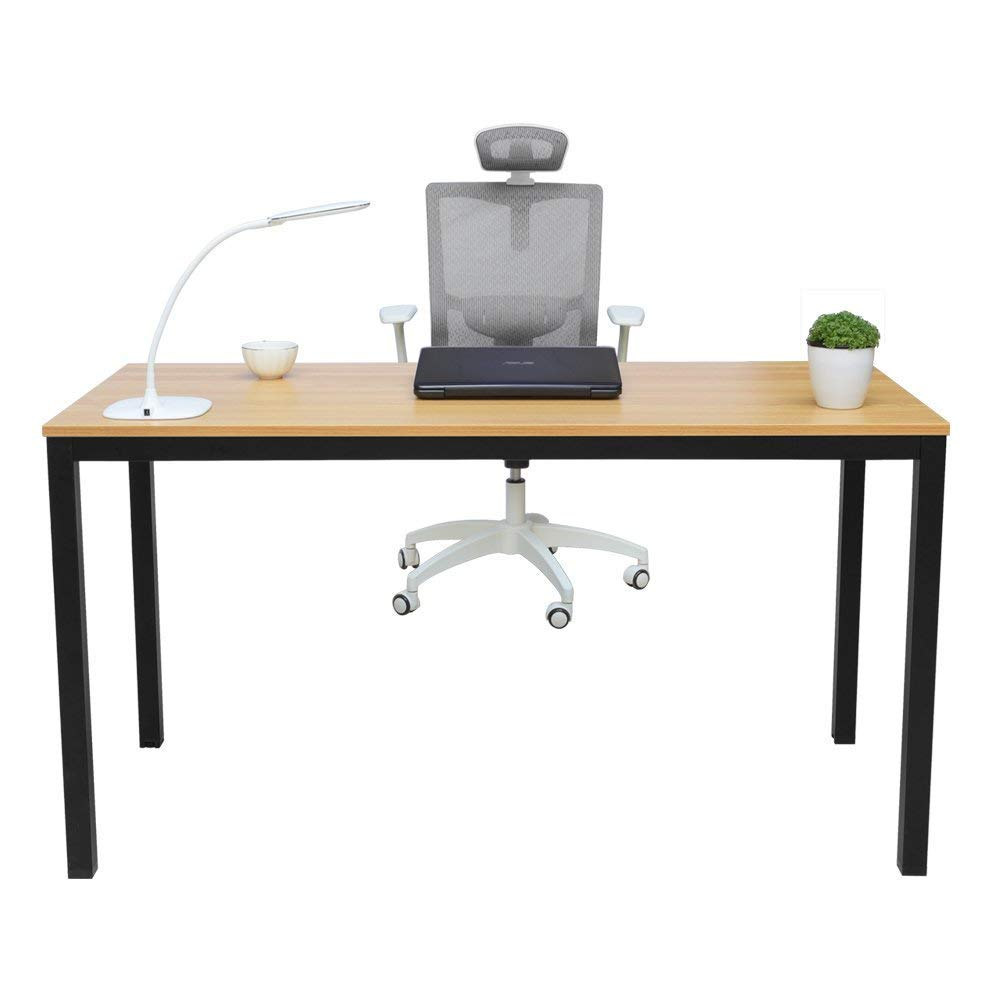 MIHE Computer Desk,55 Modern Office Desk PC Laptop Gaming Computer Table Study Writing Desk for Home or Office