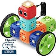 Robo Wunderkind Robotics Kit - Build and Code Your Own Robots - STEM Toy for Kids 5-16 - Compatible with Lego