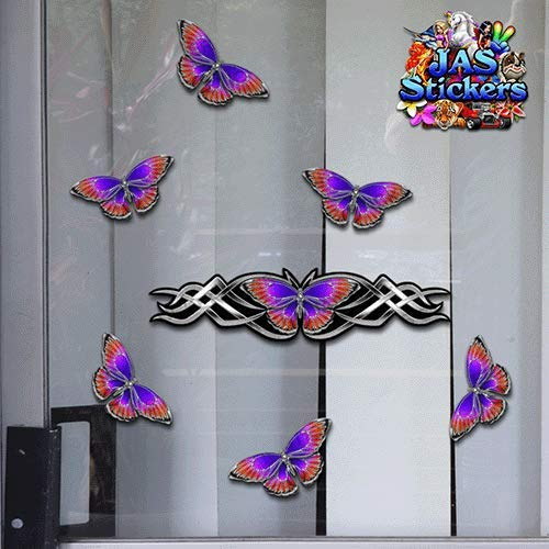 Silver Small Vinyl Stickers Pack For Laptop Bicycle Jetski Caravan ST021SL/_1 JAS Stickers/® BUTTERFLY ANIMAL CAR DECAL