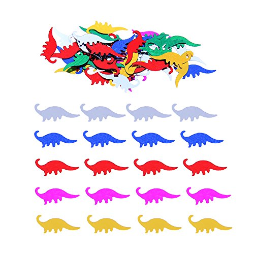 Whitelotous 50g Dinosaur Table Confetti Party Mixed Color Decoration Sprinkles (Dinosaur Table Decorations)