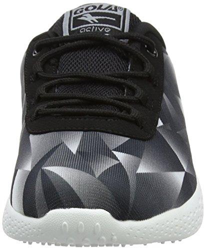 Izzu, Zapatillas Deportivas para Interior para Mujer, Negro (Black/White/Grey), 38 EU Gola