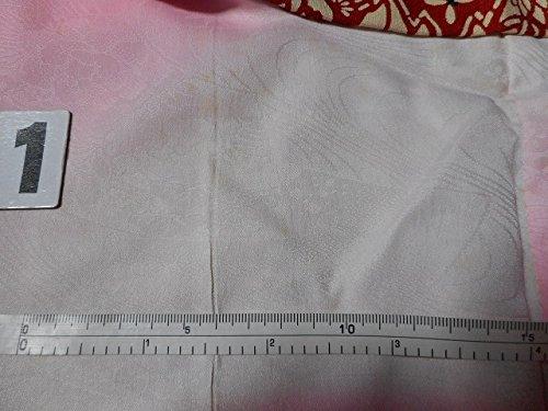 羽織 着物 中古 リサイクル 正絹 草花文様 躾付 裄65cm はおり ベージュ系 裄Mサイズ ll0228c