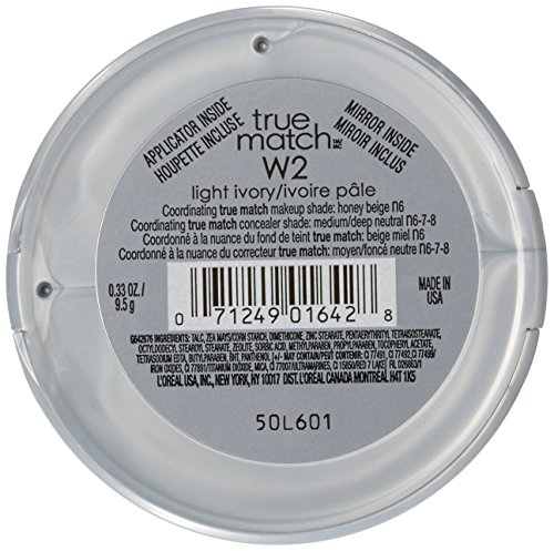 L'Oréal Paris True Match Super-Blendable Powder, Light Ivory, 0.33 oz.