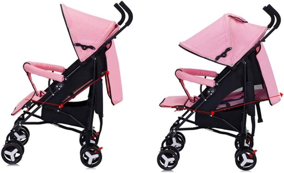 PIAOLING Leichter faltender Kinderwagen-Stahlrohr kann sitzen stützenden Stoßdämpfer-Trolley-Kinderauto sitzen (Color : Gray) Gray