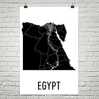 Carte de l'Égypte, Art égyptien, Cadeaux égyptiens, Art Mural égyptien, Carte de l'Égypte, Art bolivien, Décor de la Bolivie, Égypte, Affiche de l'Égypte, Affiche de l'Égypte 24'x36 Égypte