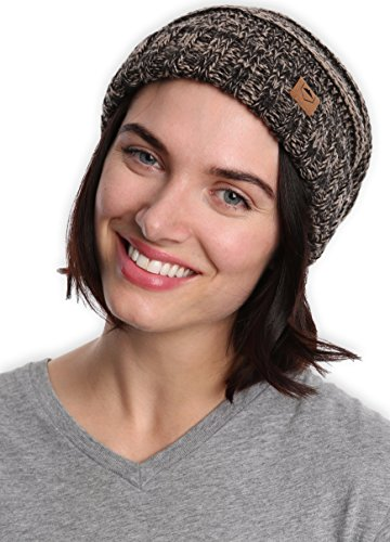 6580202b132 Slouchy Cable Knit Cuff Beanie by Tough Headwear - Chunky