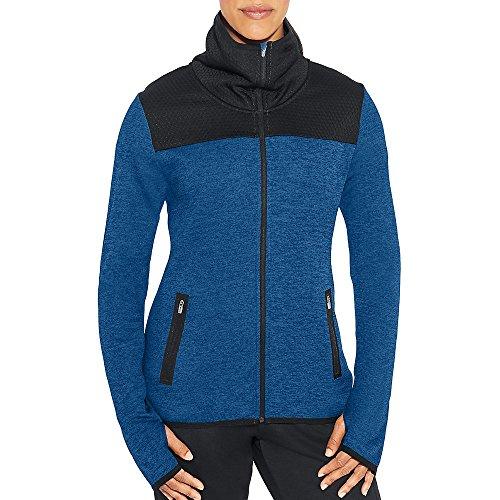 Champion Women's Premium Tech Fleece Full Zip Jacket, Winter River Teal Heather, Large