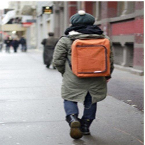 rawrow Fashion Schule Rucksack Schultasche R Tasche 100Wax Canvas Orange K9apYRBT