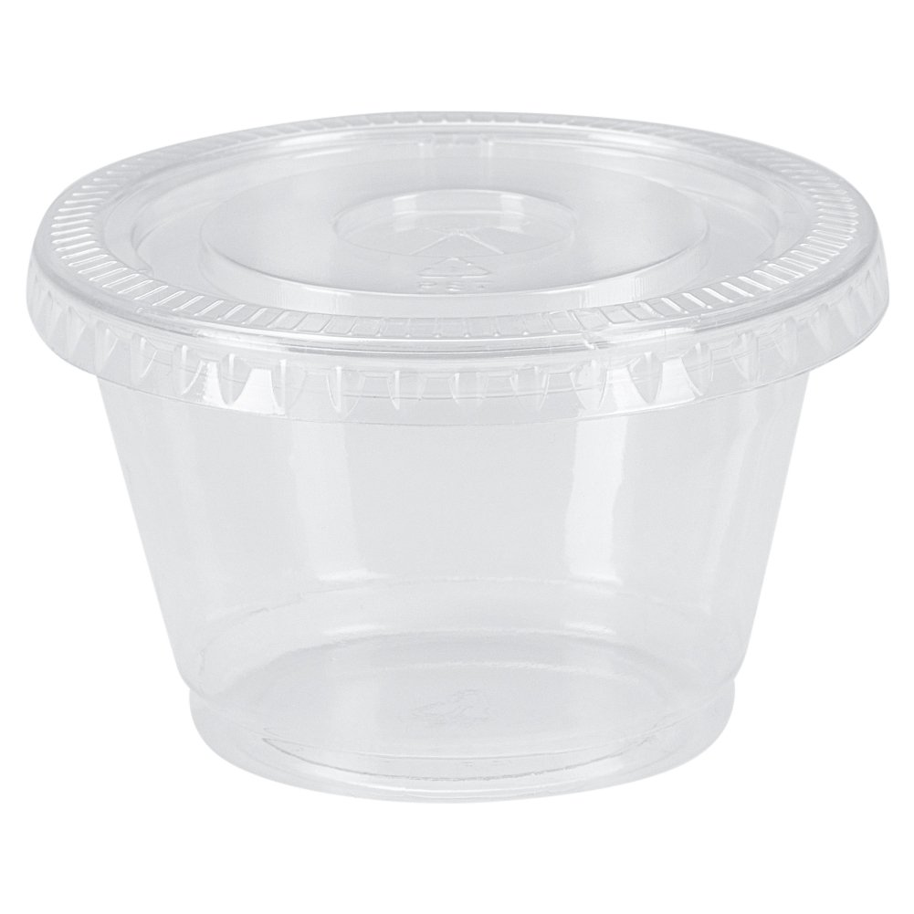 Benail 200 Pack Disposable Portion Cups Souffle Cup with Lids, 4-Ounce by Benail