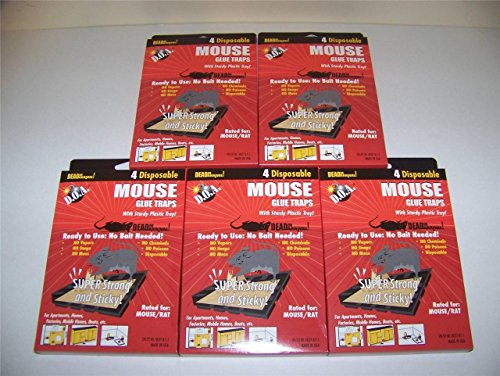 Lot Of 20 Mice Mouse Sticky Glue Traps Trays Ready To Use Contain No Vapors No Chemicals Poisons Super Strong And Sticky Brand New