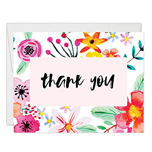 Amazon Com 50 Thank You Cards With Envelopes Pack Of 50 Colorful