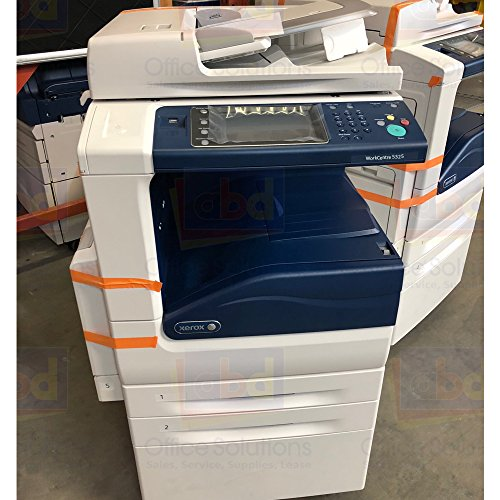 Refurbished Xerox WorkCentre 5325 Monochrome Multifunction Printer - 25 ppm, Copy, Print, Scan, Auto-Duplexing, 2 Trays and Stand