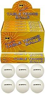 Tischtennisbälle, ohne Logo, hohe Qualität, Weiß, 6 Stück 40mm