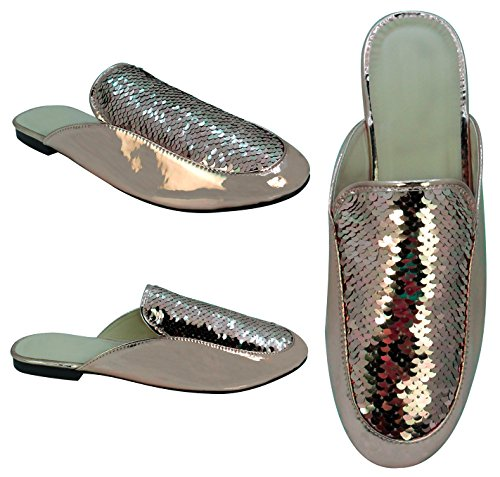 Rose Travelnut Gold assorted Loafer Sequin Women Sale On Styles Scuff Summer Slip Victoria Shoe For Slipper 4n4xw6Rq