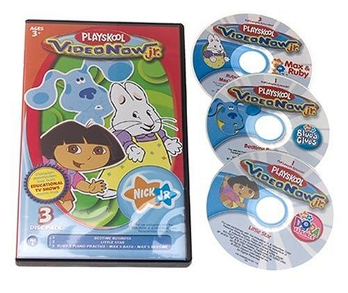 Hasbro Videonow Jr. Personal Video Disc 3-Pack: Nick Jr. #1 by Hasbro (Image #1)