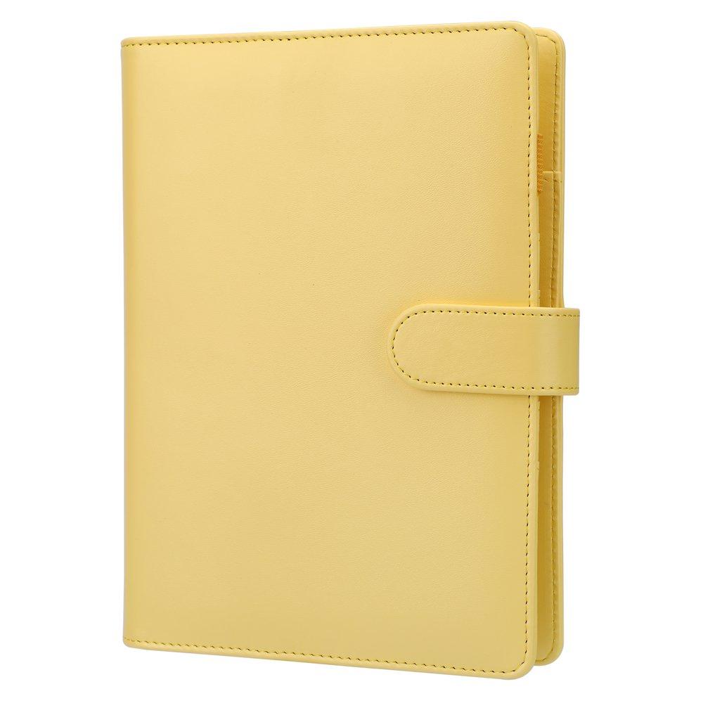 A5 6-Ring Planner Binder, Personal Organizer-Harphia (Lemon, A5 9.06 x 7.28'')