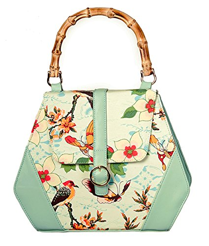 Banned Bag Light Green Flowers
