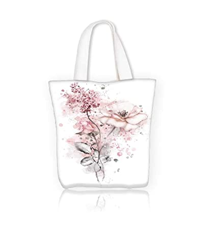 05c9f475c465 Amazon.com: Canvas Tote Bags watercolor flowers floral flower in ...