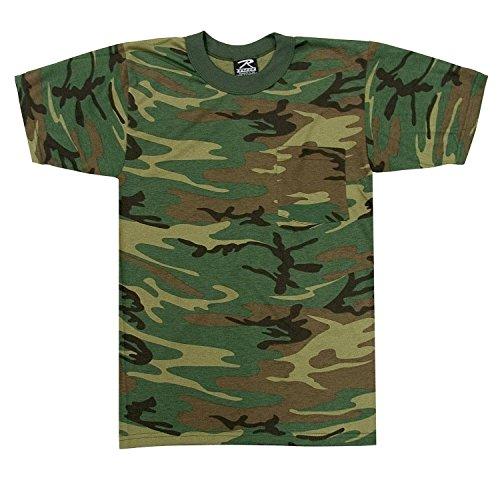 - Woodland Camouflage Short Sleeve T-Shirt w/ Pocket