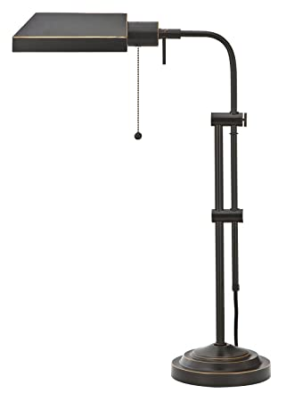 High Quality Cal Lighting BO 117TB DB Pharmacy Table Lamp, Dark Bronze