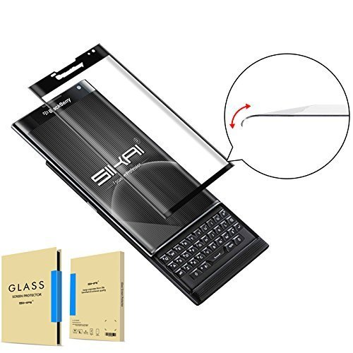 Blackberry Priv Screen Protector SIKAI Blackberry Priv 3D Full Coverage Tempered glass screen protector Blackberry Priv Android Glass protector BB Priv glass guard No Bubble(Glass Protector FBA) by SIKAICASE