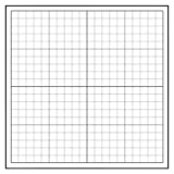 Geyer Instructional Products 503004 Repositionable, Static-Cling Graph - 1'' Squares, 24'' Height, 24'' Length, White/Black