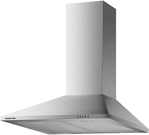 Taurus Scala 60 Inox - Campana extractora decorativa de 60 cm de 350 m3/h, 3 niveles