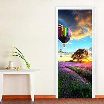 Door Mural Open Road Ahead View Effect Decal Mural Home Decor Window Sticker Wallpaper Home Living Vinyl Art Bedroom Lounge Kitchen 64