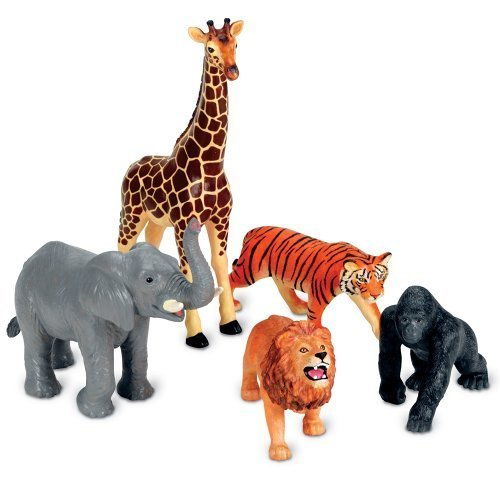 Learning Resources Jumbo Jungle Animals CustomerPackageType: Frustration-Free Packaging, Model: LSP0693-AMZ, Toys & Play by Playkids