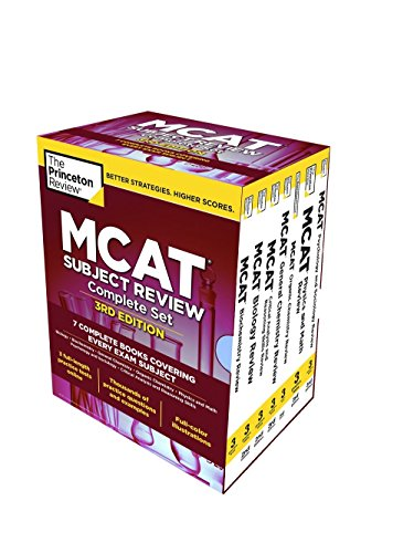 The Princeton Review MCAT Subject Review Complete Box Set, 3rd Edition: 7 Complete Books + 3 Online Practice Tests (Graduate School Test Preparation)