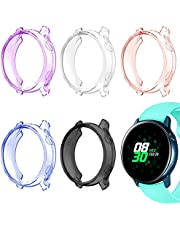AFUNTA 5 szt. pokrowiec na zegarek, kompatybilny z Galaxy Active 40 mm, ramka ochronna osłona do zegarka Galaxy Watch Active Smartwatch – fioletowy/różowy/biały/czarny/niebieski
