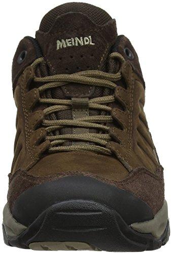 Meindl Nebraska Lady (XL), Chaussures de Randonnée Basses Femme, Marron Foncé Marron (Dunkelbraun 46)