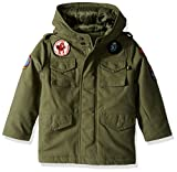 Alpha Industries Big Boys' M-65 Noah Coat, Olive, Large/14-16