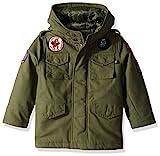 Alpha Industries Big Boys' M-65 Noah Coat, Olive, X-Small/6/7