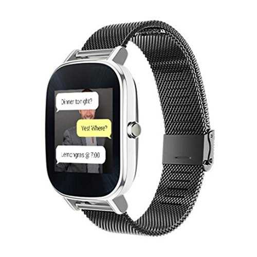 Hotsale! For ASUS ZenWatch 2 Milanese Stainless Steel Quick Release Watch Band (Black) ()