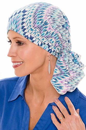 Slip-On Slinky Pre Tied Head Scarf - Scarves for Women with Cancer Chemo Marbled Avant Gard - (Slinky Cap)