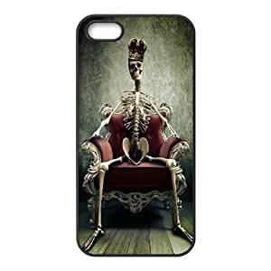 Skeleton King Queen Crown For Ipod Touch 4 Phone Case Cover Black