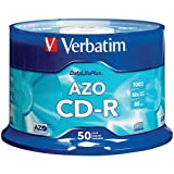 1 - 700MB 80MIN 52X DataLifePlus CD-Rs, Branded 50-ct Spindle, Patented AZO(TM) recording dye provides the highest level of read/write performance, reliability & archival life for CD-Recordable media, Up to 700MB or 80 min of CD-quality audio on a single disc, 94523